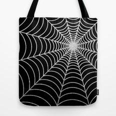 Spiderweb | Silver Glitter Tote Bag