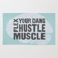 Flex Your Dang Hustle Muscle Rug