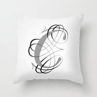 The Letter C Throw Pillow