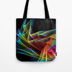 Dancing Northern Lights, Abstract Summer Sky Tote Bag