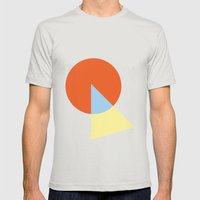 Triangle and circle Mens Fitted Tee Silver SMALL