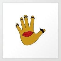 Handfaces Art Print