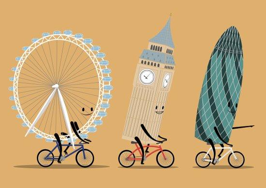 See London On A Bike Art Print