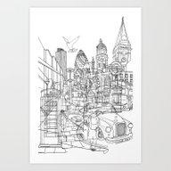 Art Print featuring London! by David Bushell