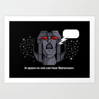 Space Scream Art Print