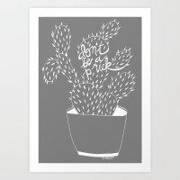 cactus in white Art Print