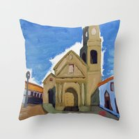 Iglesia San Agustin La Serena Throw Pillow