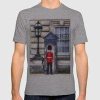 Buckingham Palace Queens Guard Art Mens Fitted Tee Athletic Grey SMALL