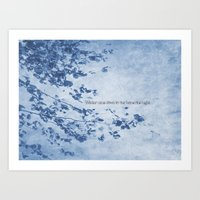 Winter came down to our home one night Art Print