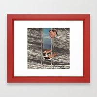 chrome waves Framed Art Print