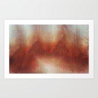 Foggy Valley Art Print