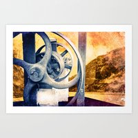 Braving The Canal Art Print