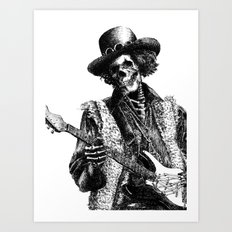 The Legend of Guitarist Art Print