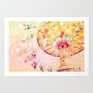 Art Print featuring Joy Ride... by Lisa Argyropoulos