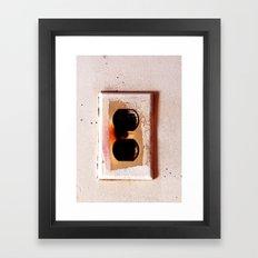 Plug Framed Art Print