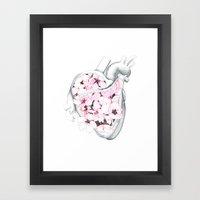 Blossom Burst Heart Framed Art Print