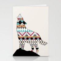 Wild Soul - Aztec Navajo Wolf Stationery Cards
