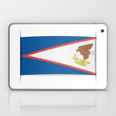 Flag of American Samoa. The slit in the paper with shadows.  Laptop & iPad Skin