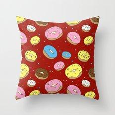 Cute Donuts Throw Pillow