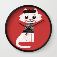 Mark The Cat Goes To Par… Wall Clock