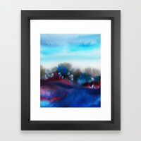 Watercolor abstract landscape 25 Framed Art Print