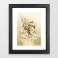 Animal princess Framed Art Print