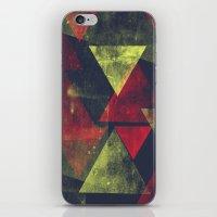 weathered triangles iPhone & iPod Skin