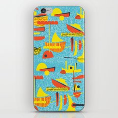 Abstract Boats inspired by midcentury 1950s design iPhone & iPod Skin
