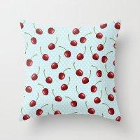 Cherry's Throw Pillow