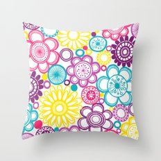 BOLD & BEAUTIFUL blooms Throw Pillow
