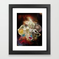 Mother Loving Galaxy Framed Art Print