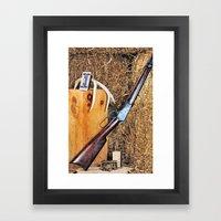 Winchester Rifle Framed Art Print