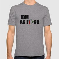 IDM AS F*CK Mens Fitted Tee Athletic Grey SMALL