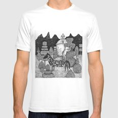 The Gardner Mens Fitted Tee SMALL White