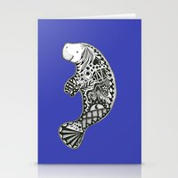 Blue Manatee Stationery Cards