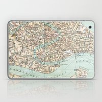 Vintage Venice Map Laptop & iPad Skin
