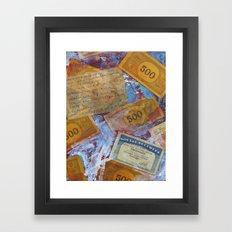 Cash for Clunkers Framed Art Print