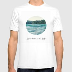 Life on the Lake Mens Fitted Tee White SMALL