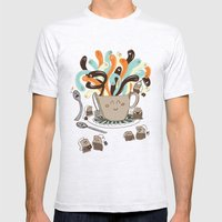 Tea Time Mens Fitted Tee Ash Grey SMALL