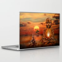 buddha Laptop & iPad Skins featuring Buddha by teddynash