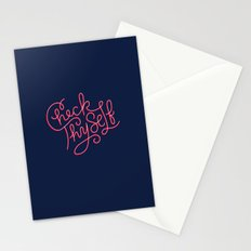 Check Thyself Stationery Cards