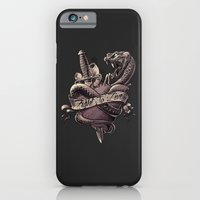 iPhone & iPod Case featuring Fight To Live. Snake Heart and Dagger by pakowacz