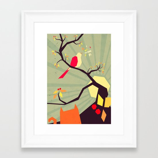 N is for Nightingale Framed Art Print