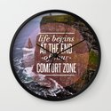 The End Of Your Comfort Zone Wall Clock
