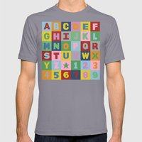 Alphabet Mens Fitted Tee Slate SMALL
