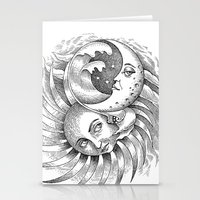 Moon and Sun Stationery Cards