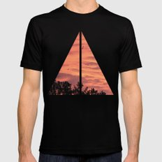 Burning Sunrise SMALL Mens Fitted Tee Black