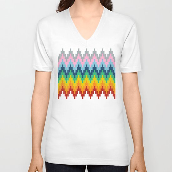 Brick Steps V-neck T-shirt