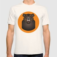 Bear Mens Fitted Tee Natural SMALL