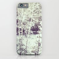 iPhone & iPod Case featuring winter forest by angelenka